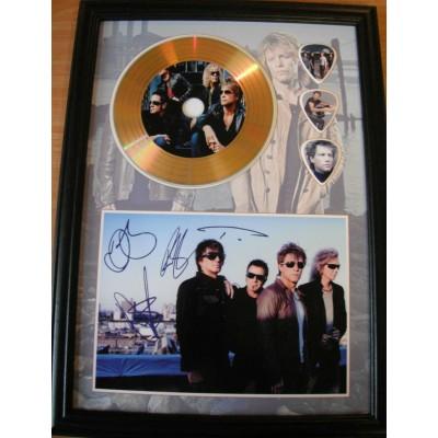 Bon Jovi Gold Vinyl Display (Preprint)