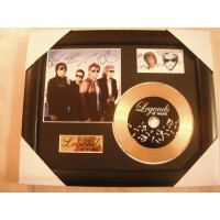 Bon Jovi Gold Vinyl and Plectrum Display (Preprint)