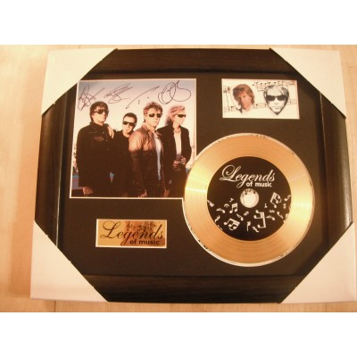 Bon Jovi Gold Vinyl and Plectrum Display (Preprint)