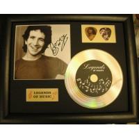 Bon Scott Gold Vinyl and Plectrum Display (Preprint) - AC/DC