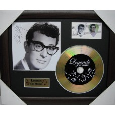 Buddy Holly Gold Vinyl and Plectrum Display (Preprint)