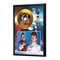 David Bowie Gold Vinyl Display (Preprint)