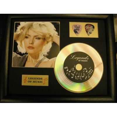 Debbie Harry Gold Vinyl and Plectrum Display (Preprint) - 1