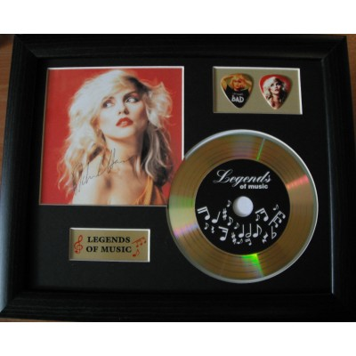 Debbie Harry Gold Vinyl and Plectrum Display (Preprint) - 2