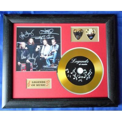 Eagles Gold Vinyl and Plectrum Display (Preprint)
