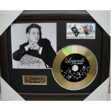 Eddie Cochran Gold Vinyl and Plectrum Display (Preprint)