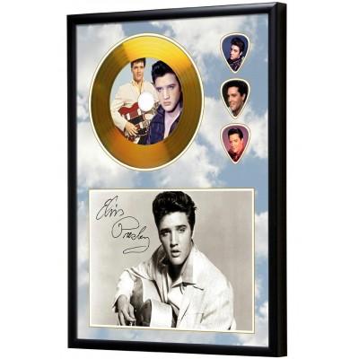 Elvis Presley Gold Vinyl Display (Preprint) - 1
