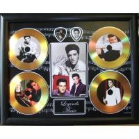 Elvis Presley Gold Vinyl and Plectrum Display (Preprint)