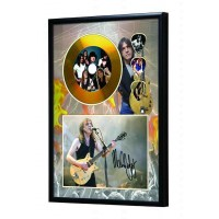 Malcolm Young Gold Vinyl Display (Preprint) - AC/DC