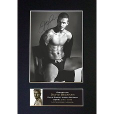 David Beckham Pre-Printed Autograph