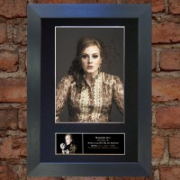 Adele Pre-Printed Autograph