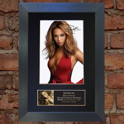 Beyonce Pre-Printed Autograph 2 (Destiny's Child)