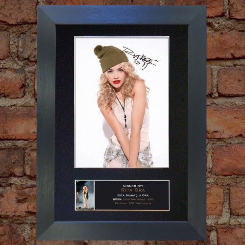 Rita Ora Signed Mounted Photo Display Autographed Gift Picture Print