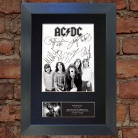 AC/DC Pre-Printed Autograph