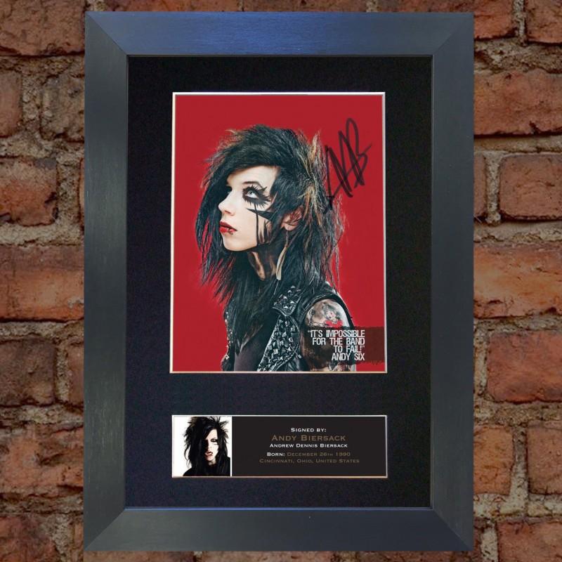 Andy Biersack Print Signature Black Veil Brides Guitar Pick picks Plectrum Badge