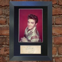 Elvis Presley Pre-Printed Autograph 1