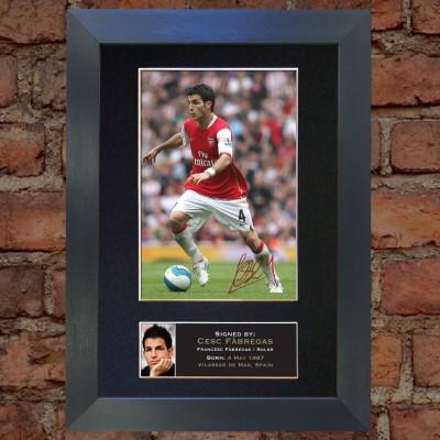 Cesc Fabregas Pre-Printed Autograph (Arsenal)