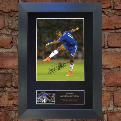 Didier Drogba Pre-Printed Autograph 2 (Chelsea)