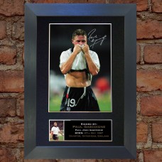 Paul Gascoigne Pre-Printed Autograph (England; Newcastle United)