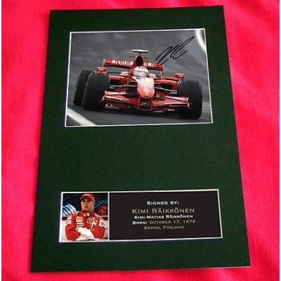 Kimi Raikkonen Pre-Printed Autograph