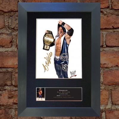 AJ Styles Pre-Printed Autograph (WWE; Impact)