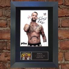 CM Punk Pre-Printed Autograph (WWE; UFC)