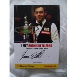 Ronnie O'Sullivan autograph