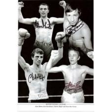 Alan Minter, Ken Buchanan, Charlie Magri and Dave Boy Green autograph