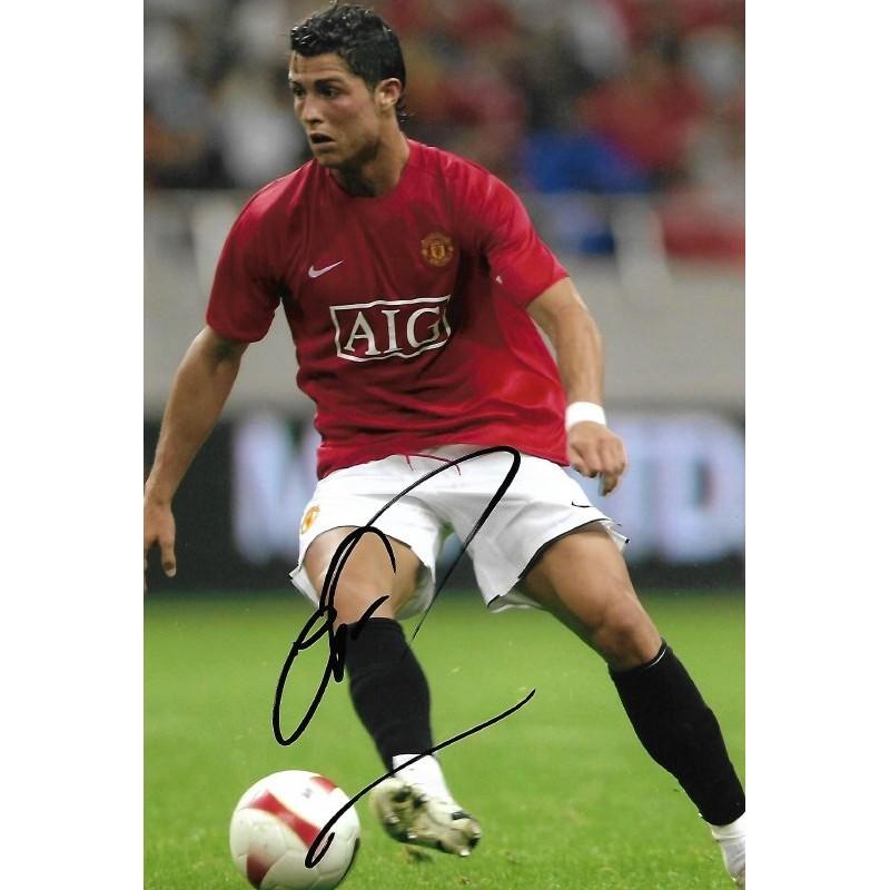 timeless design 1294c d4eb7 Cristiano Ronaldo autograph 2 (Man Utd; Portugal)