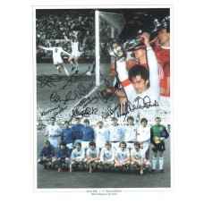 Aston Villa F.C. team autograph (1982 European Cup Winners)