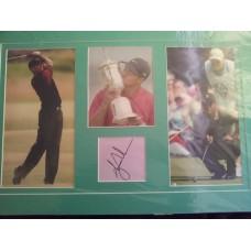 Tiger Woods autograph