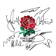 England Rugby team autograph