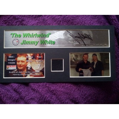 Jimmy White autograph (w/ Clothing Swatch)