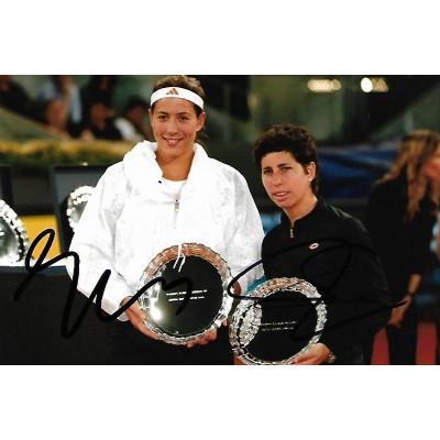 Garbine Muguruza and Carla Suarez Navarro autograph