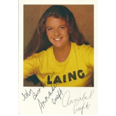 Annabel Croft dedicated autograph