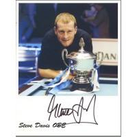 Steve Davis autograph 2
