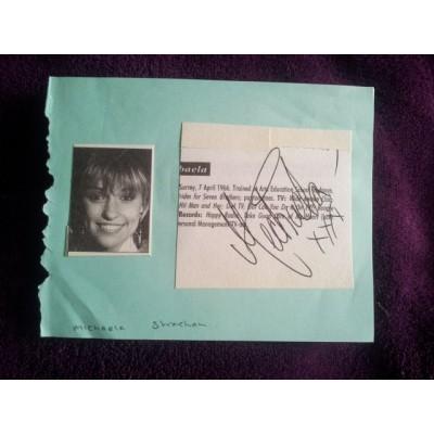 Michaela Strachan autograph