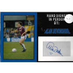 Alan Devonshire autograph West Ham