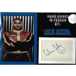 Colin Jackson autograph Athletics